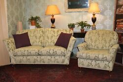 Duresta Ruskin Model 2 Seater Sofa And Armchair Suite Rrp Andpound5000 Still Selling