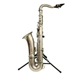 Antique Saxophone C-melody Saxophone By Conn Silver Plate Finish 1920s