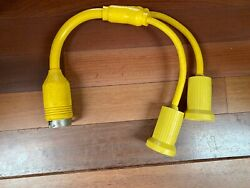 Hubbell Hbl64cm57 - 2 X 30a 125v Plug To 50a 125/250v Female Y-adapter