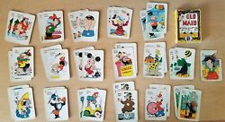 Vintage 1947, Old Maid Circus Edition Card Game Ed-u-cards, Complete Set