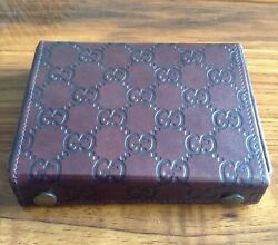 Signature Gg Playing Cards With Leather Carry Case