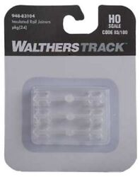 Ho Scale Walthers 948-83104 Code 83 Or 100 Insulated Rail Joiners Pkg 24