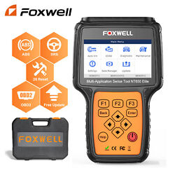 Obd2 Scanner Foxwell Nt510 Elite Full System Abs Srs Bi-directional Active Test