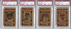 1982 Perma-graphics Credit Card Complete Psa Graded Set 8's To 10's Gold Hof