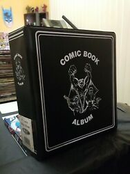 BCW 3quot; Black Comic Book Collectors Album 3 Ring Binder Holds Pocket Pages LAST 1