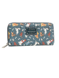 Loungefly x Disney Women#x27;s Zip Around Wallet Dogs 101 Dalmatians Lady amp; Tramp $44.95