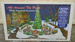 Dept 56 All Around The Park Animated Village Accessory - Snow Base Trees Figures