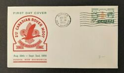 1956 Boy Scouts Canadian Rover Moot First Day Cover Sussex Canada