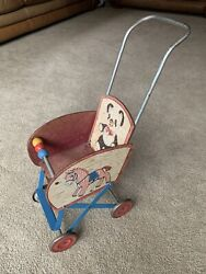Vintage Gong Bell Child Size Baby Doll Stroller