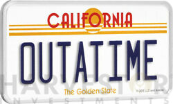 2020 Back To The Future Outatime License Plate - 2 Oz. Silver Coin - With Ogp