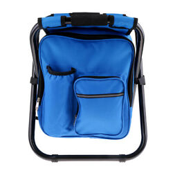 3 in 1 Backpack Cooler Chair Folding Camping Fishing Stool with Insulated $56.45