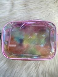 Ulta Makeup Cosmetic Bag Pouch Zippered Pink Transparent Brand New $8.40