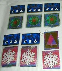 True Vintage Rare 3-d Cleo 14 Piece Rare Christmas Tree Decorations Gift Tags