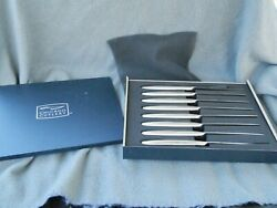 Rare Chicago Cutlery 2k101 8 Piece Stainless Knife Set In Box Estate Find