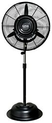 Luma Comfort 24 Inch Commercial Misting Fan With 3 Speed Settings Black Mf24b