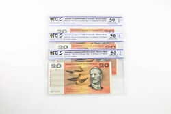 1972 Australia Run Of 3 Cons 20 Banknote Phillips/wheeler About Unc 50 Opq Pcgs