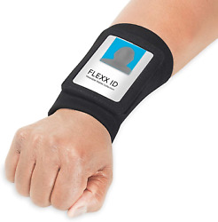 Access Card Holder Hands Free Id Employee Security Badge Storage Wrist Band Xl