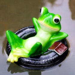 Simulation Resin Floating Frogs Fairy Garden Terrarium Outdoor Statues E