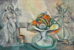 John F. Leonard Still Life With Nude 15 Oil On Canvas Mounted To Board