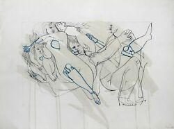 Dimitri Petrov Untitled - Mechanical Love Ink On Paper Signed