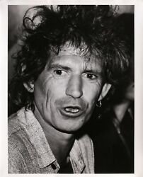 Rita Barros Keith Richards At The Chelsea Hotel Gelatin Silver Print Signed A