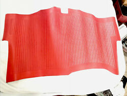 Nos Original Gm 1958 Corvette Trunk Mat 3743427 Red Ncrs Fi Perfect Condition