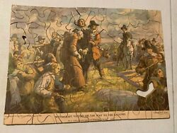 1930 Wooden Puzzles Witchcraft Victims On The Way To Gallows American History