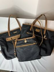 MICHEAL KORS Lot 3 Flawed Nylon Totes And Crossbody Handbags $12.99