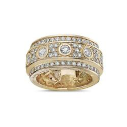 Beautiful Menand039s Moissanite 925 Sterling Silver Yellow Gold Plated Menand039s Ring