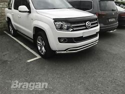 To Fit Vw Volkswagen Amarok 2016+ Double Spoiler Bar Stainless Nudge Chin Bumper