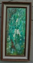Vintage Oil On Wood Panel Abstract Painting By Connecticut Artist Frank Federico