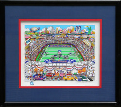 Charles Fazzino, Giants, 3-d Screenprint, Signed And Numbered In Pencil