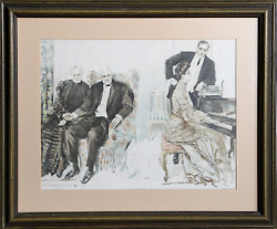 Howard Chandler Christy Looking Backwards Lithograph Signed In The Plate