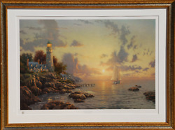 Thomas Kinkade, The Sea Of Tranquility, Offset Lithograph, Signed And Numbered I