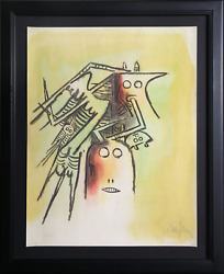 Wifredo Lam El Casquee She With Helmet From The Pleni Luna Suite Lithograph