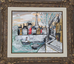 Charles Cobelle, Eiffel Tower 1, Acrylic On Canvas, Signed L.r.