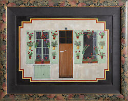 Christine Graf Provence Window Oil On Canvas Signed And Dated