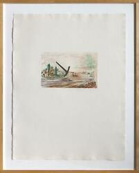 Claes Oldenburg, Pick-axe Superimposed On A Drawing Of Site By E.l. Grimm, Color