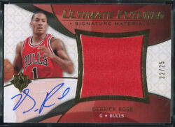 2008-09 Ultimate Collection Futures Derrick Rose Auto Jersey Rookie D 25 Bulls