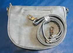Half Moon Crossbody by Thirty one Denim Distressed Pebble New In Package $17.99