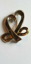 And Co. Sterling Silver 925 And 18k Y Gold P. Picasso Brooch. Very Rare