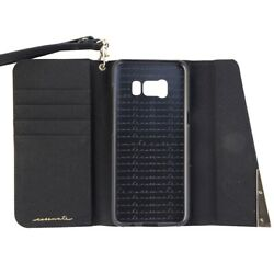 Case Mate Folio Wristlet Leather Wallet Case for Samsung Galaxy S8 Black Gold $9.99