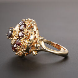 18ct Gold Quartz Cocktail Dress Ring - Size O Rrp Andpound1390 {kg30} Finance Available