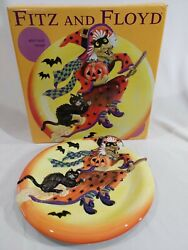 Fitz And Floyd 9 Witch Hazel Canape Plate Halloween Original Box Packing