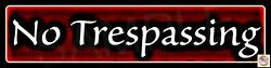 2 Pack No Trespassing Street Signs 3x12 Classy Made In Usa All Weather Metal
