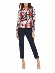 TOMMY HILFIGER Womens Pink Floral Long Sleeve Collared Blouse Size: S $8.99