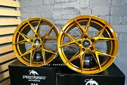 New 20 Inch 5x120 Forzza Oregon Golden Amber Wheels For Bmw 3 4 5 6 E F Series