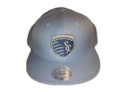 Sporting Kansas City Mls Soccer Mitchell And Ness Snapback Hat,new With Tags
