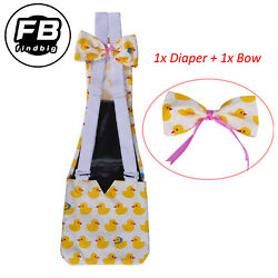 4 Sizes Adjustable Cloth Diaper Wearable Poultry for Farm Pet Goose Duck Chicken