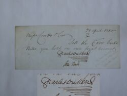 Authentic Charles Dickens Autographed Letter Messrs Coutts And Co 28th April 1850.